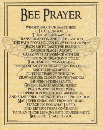 Bee Prayer Poster