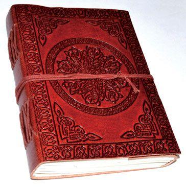 "5"" X 7"" Celtic Mandala Leather Blank Book W/cord"