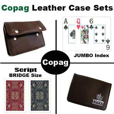 Copag Script Bridge Size Jumbo Index Leather Case