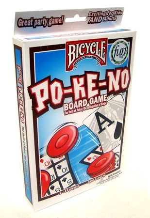 The Original Pokeno White Card Game By Bicycle