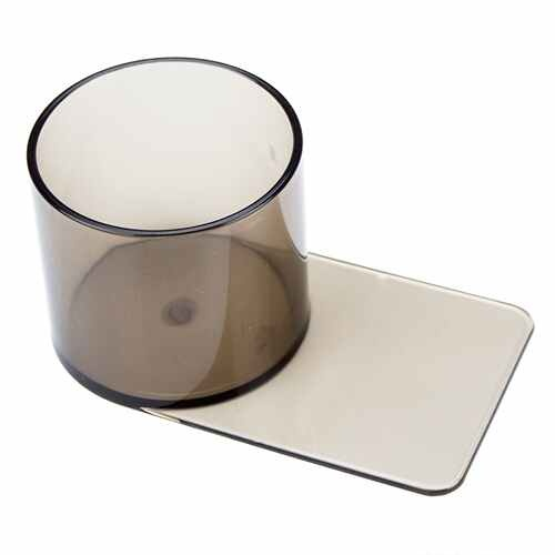 Small Plastic Smoke Colored Slide In Cup Holder