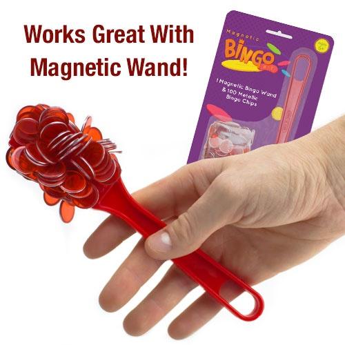 300 Pack Purple Magnetic Bingo Chips