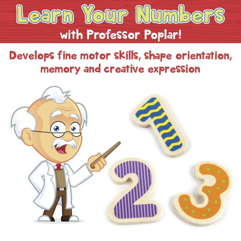 Professor Poplar's Wooden Numbers Puzzle Board