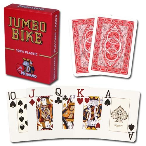 Modiano Bike Trophy Jumbo Playing Cards - Red