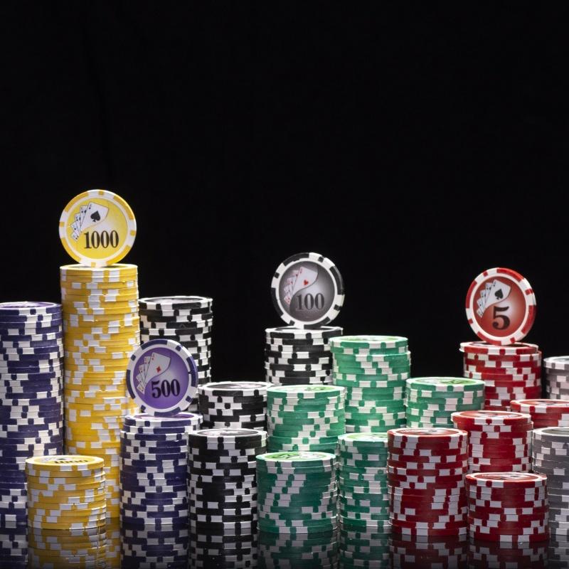 500 Ct Yin Yang Clay Poker Chip Set W/ Alum Case & Free Book