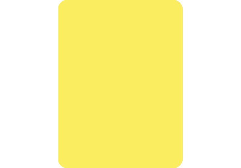 Cut Card - Poker - Yellow
