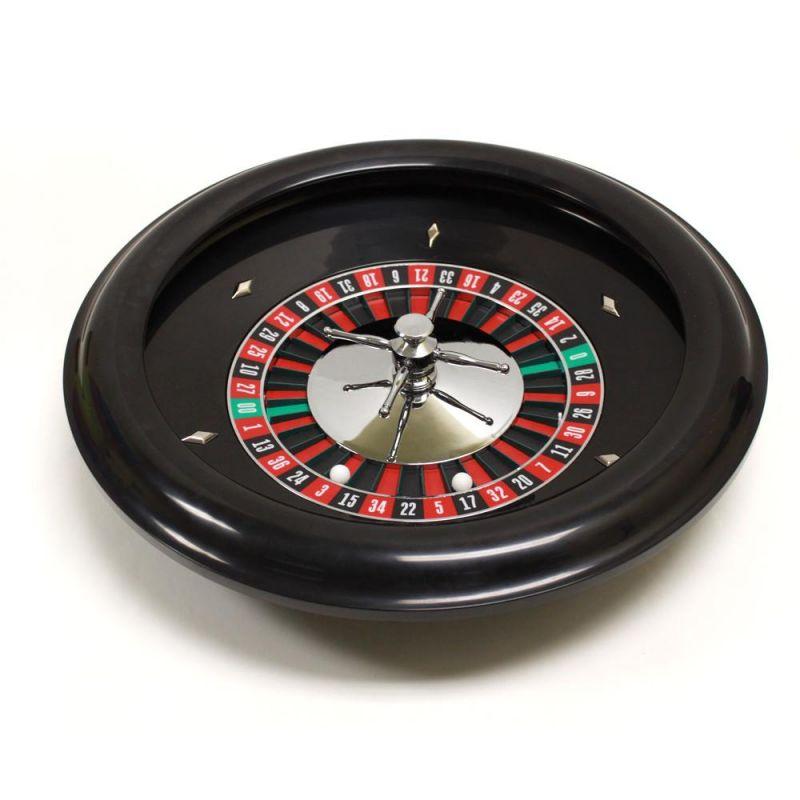 "18"" Premium Bakelite Roulette Wheel With 2 Roulette Balls"