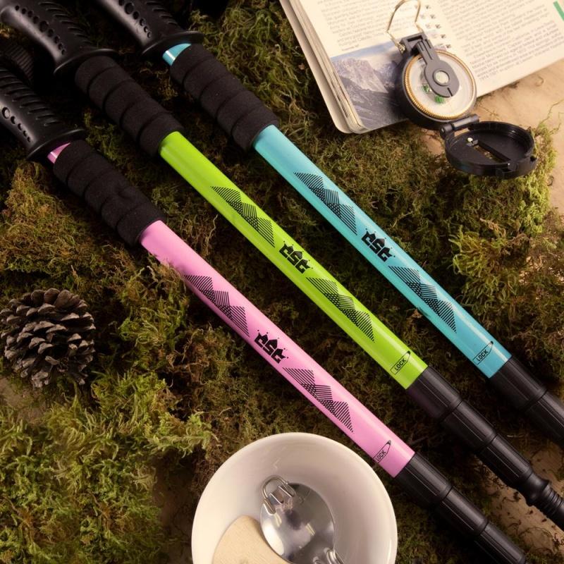 "53"" Teal Shock-Resistant Adjustable Trekking Pole"