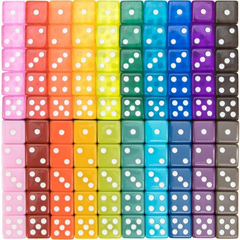 100-Pack Vintage Dice, Mixed