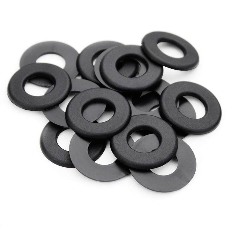Pack Of 16 Black Nylon Washers For Standard Foosball Table
