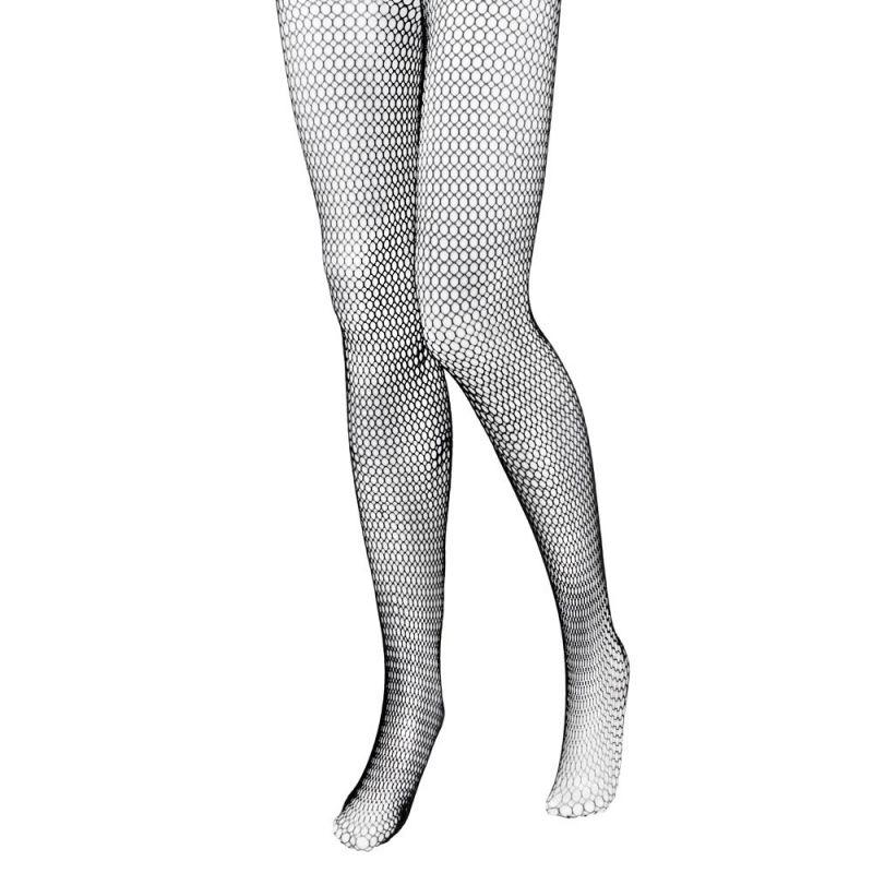 Black Fishnet Mid-rise Costume Tights