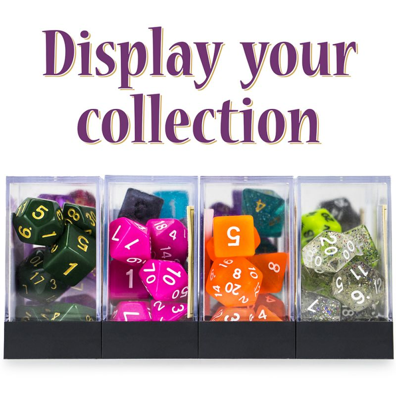 Set Of 7 Polyhedral Dice, Dreamless Night