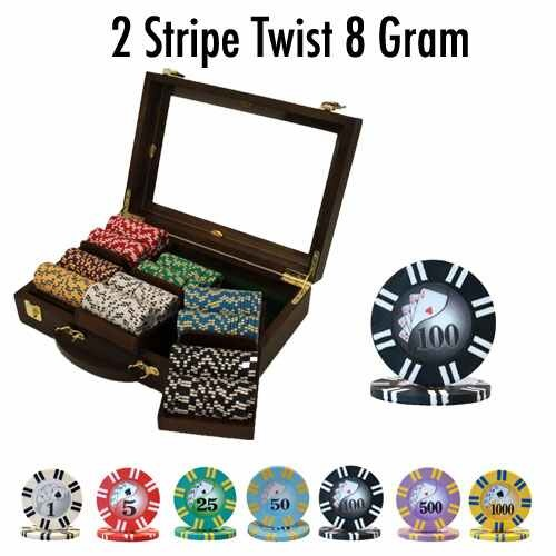 300 Ct - Custom Breakout - 2 Stripe Twist 8 G - Walnut