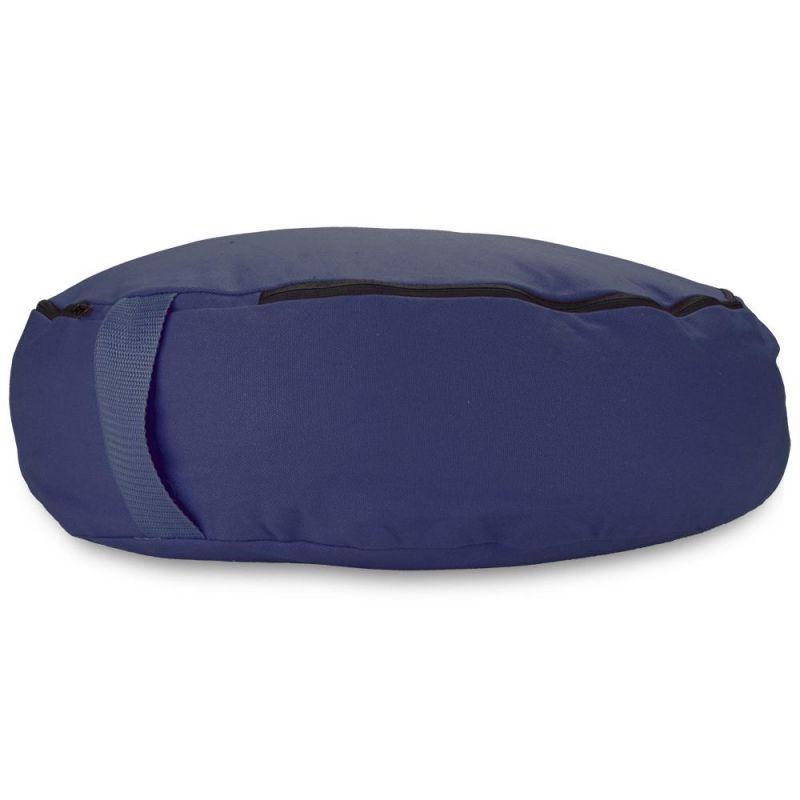 "Blue 18"" Round Zafu Meditation Cushion"