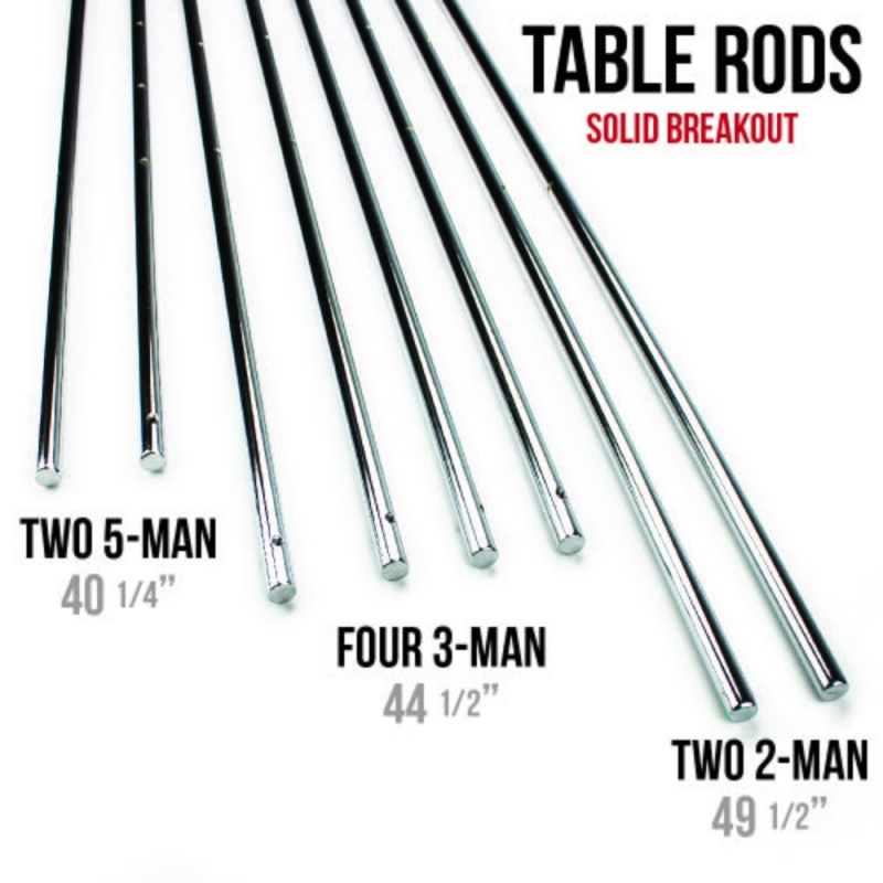 """Set Of 8 Solid 5/8"""" Steel Rods For Standard Foosball Table"""