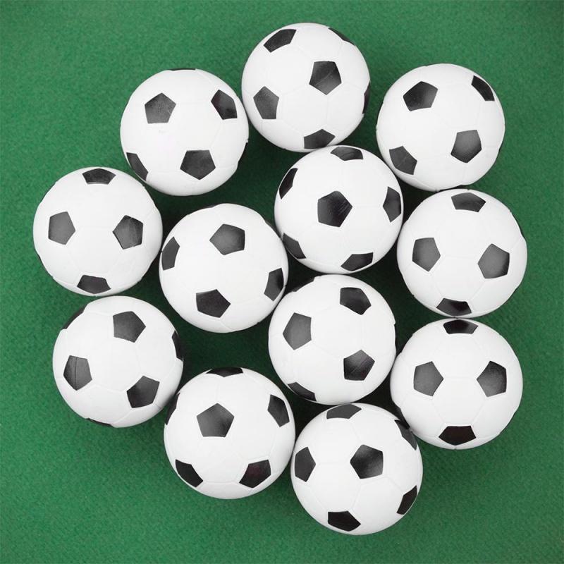 12 Black And White Soccer Style Foosballs