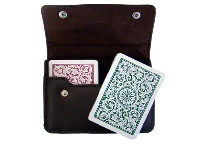Copag 1546 Gb Poker Size Jumbo Index Leather Case