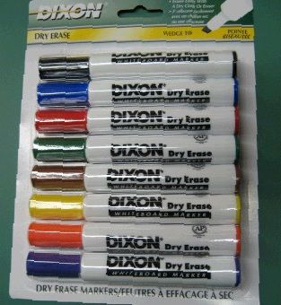 Dixon Whiteboard Markers: 8 Color Set