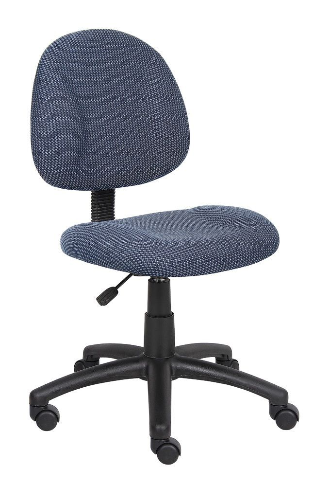 Boss Perfect Posture Deluxe Office Task Chair Without Arms, Blue