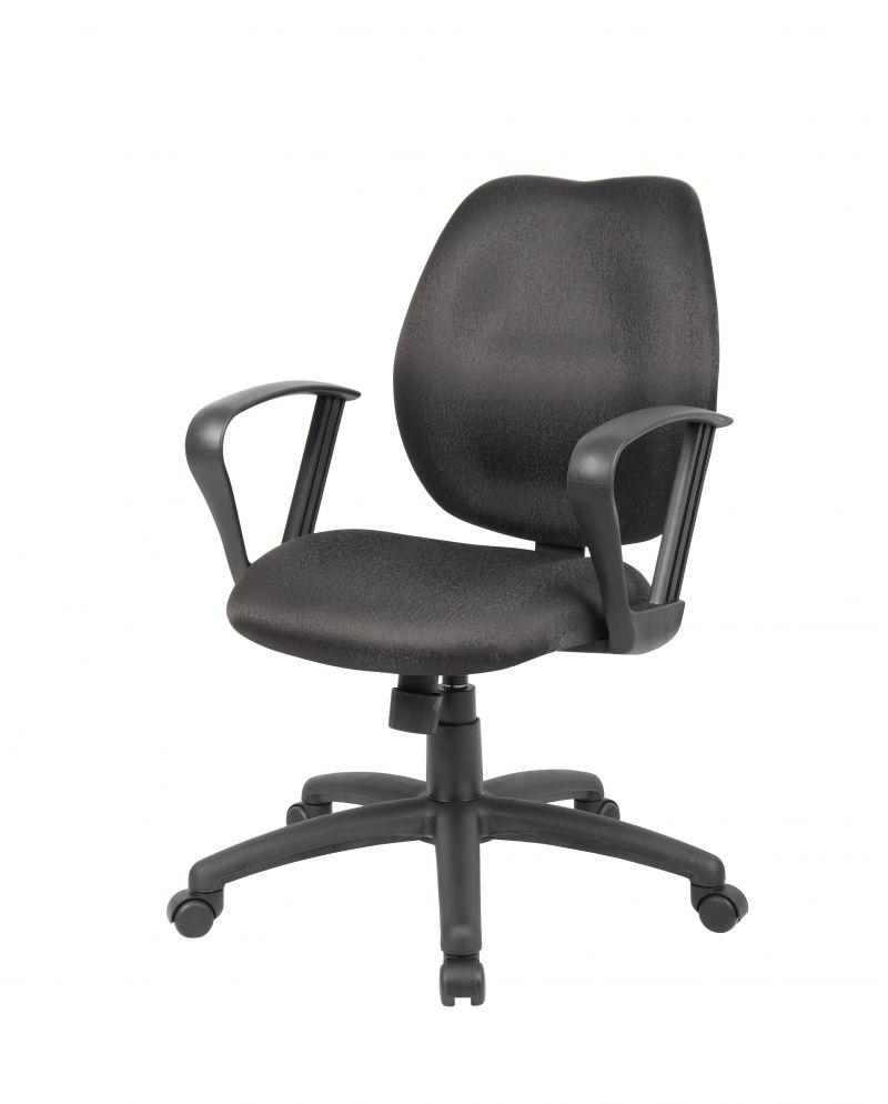 Boss Black Task Chair W/loop Arms