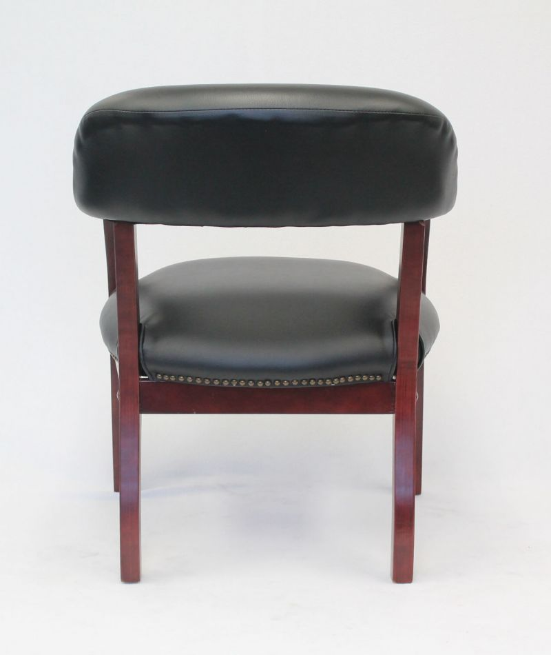 Boss Captain's Guest, Accent Or Dining Chair In Black Vinyl