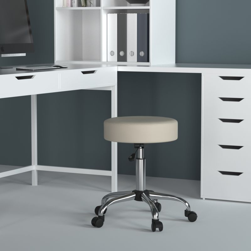 Boss Be Well Medical Spa Professional Adjustable Stool Beige