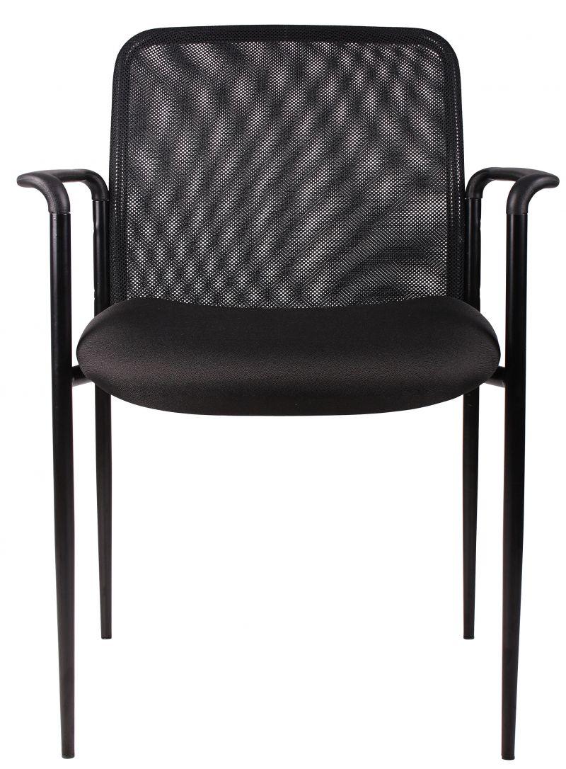 Boss Stackable Mesh Guest Chair, Black