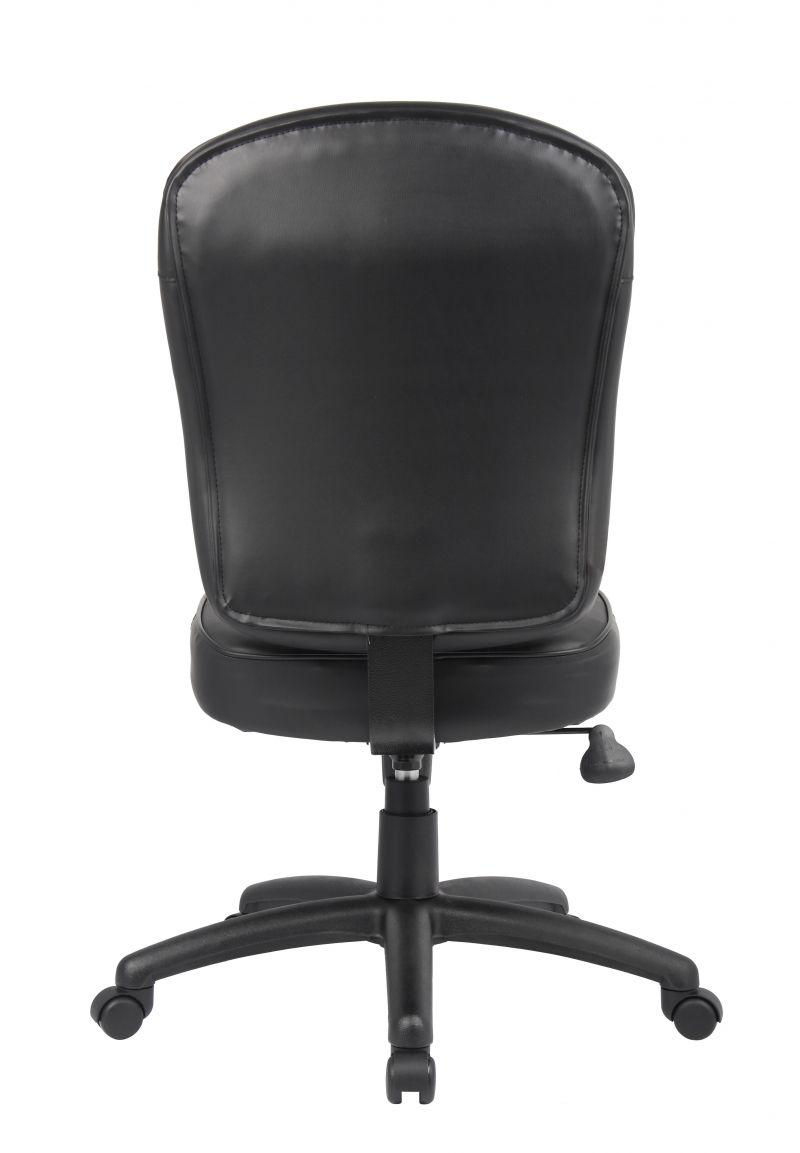 Boss Black Leather Task Chair