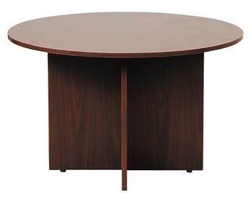 Boss 42″ Round Table, Mahogany