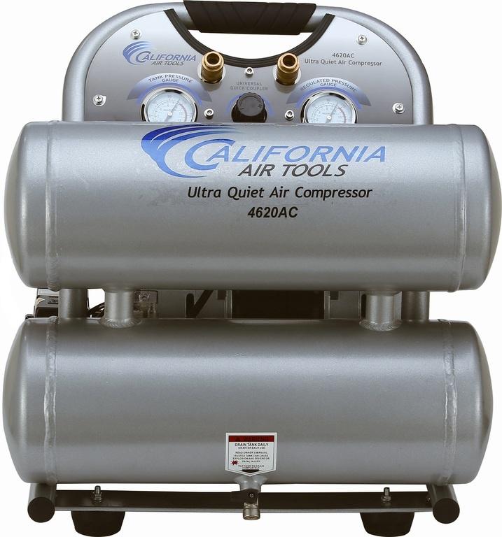 Ultra Quiet & Oil-Free 2.0 Hp, 4.6 Gal. Aluminum Tank