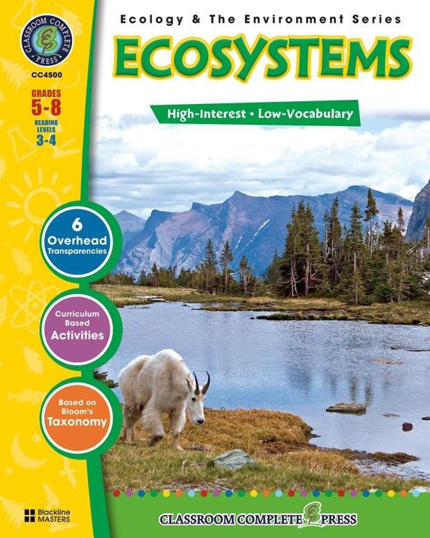 Classroom Complete Regular Education Science Book: Ecosystems, Grades - 5, 6, 7, 8