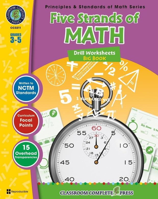Classroom Complete Regular Edition Book: Five Strands of Math - Drills Big Book, Grades 3, 4, 5
