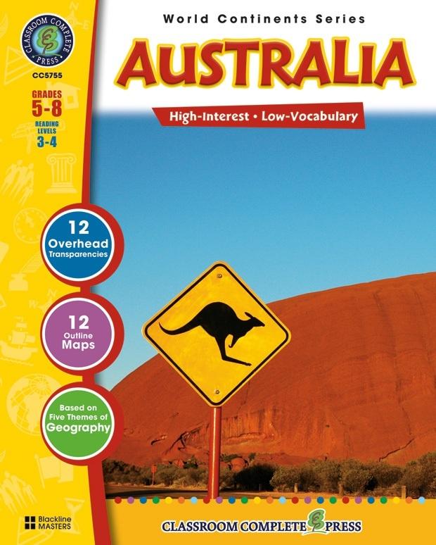 Classroom Complete Regular Education Social Studies Book: Australia, Grades - 5, 6, 7, 8