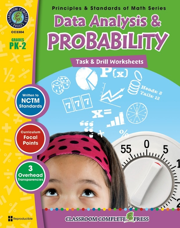 Classroom Complete Regular Education Book: Data Analysis & Probability - Task & Drill Sheets, Grades - PK, K, 1, 2