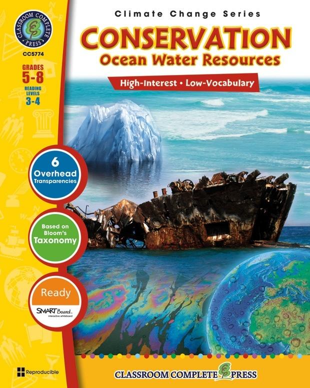 Classroom Complete Regular Education Book: Conservation - Ocean Water Resources, Grades - 5, 6, 7, 8