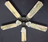 """New Army Tanks Military Helicopter Ceiling Fan 52"""""""