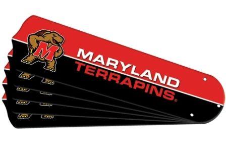 "New Ncaa Maryland Terrapins 52"" Ceiling Fan Blade Set"