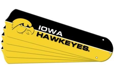 "New Ncaa Iowa Hawkeyes 52"" Ceiling Fan Blade Set"