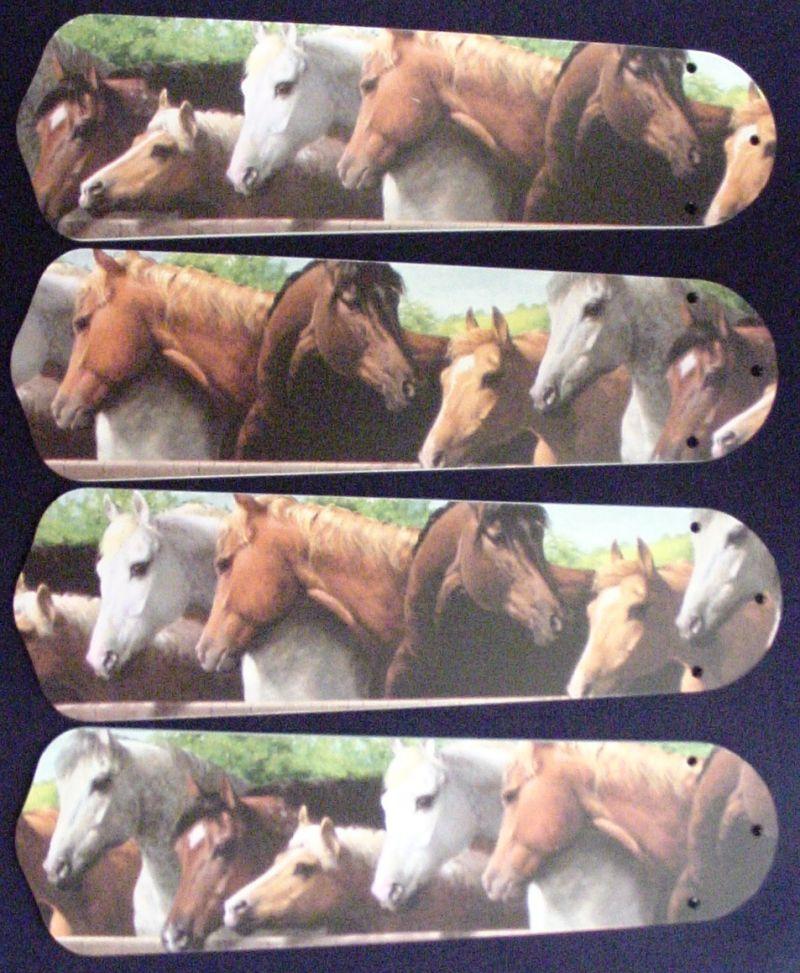 "New Horses Horse Equestrian Ceiling Fan 42"""