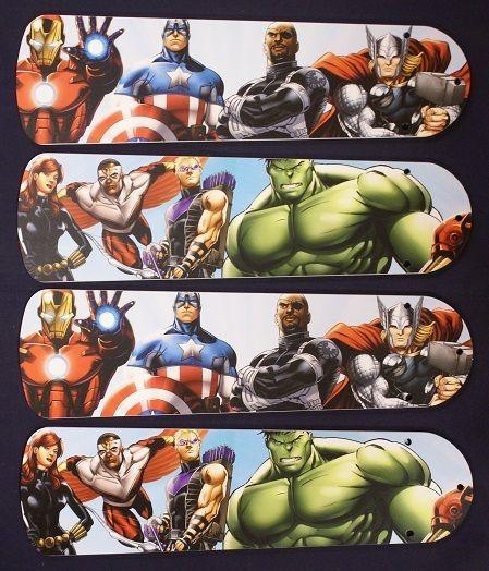 """New Kids Avengers Marvel Captain America 42"""" Ceiling Fan Blades Only"""