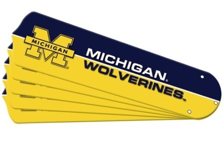 "New Ncaa Michigan Wolverines 42"" Ceiling Fan Blade Set"