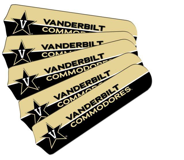 "New Ncaa Vanderbilt Commodores 42"" Ceiling Fan"