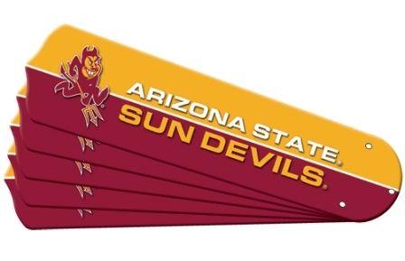"New Ncaa Arizona State Sun Devils 42"" Ceiling Fan Blade Set"