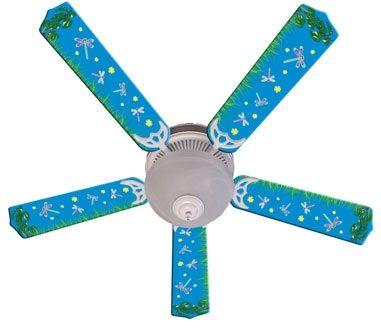 Ceiling Fan Designers Kids Dragonflies & Fireflies Fan/Blades