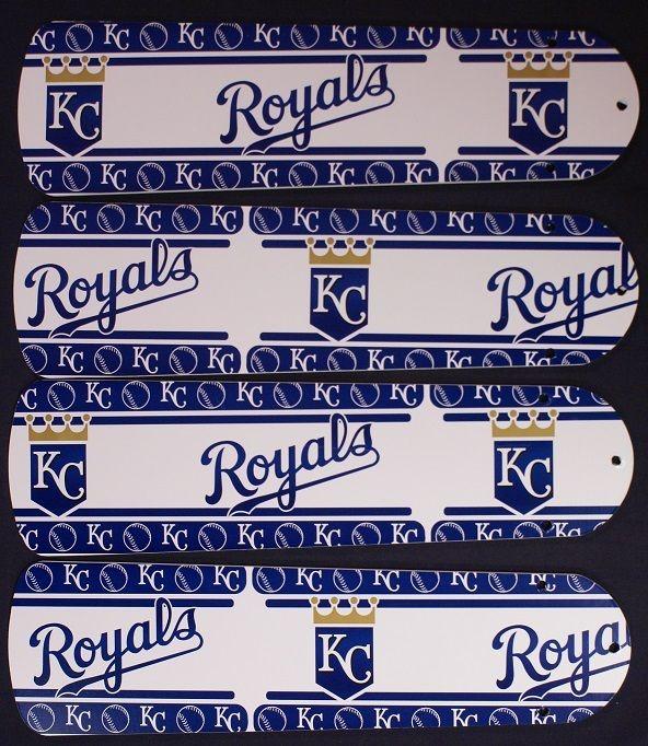 "New Mlb Kansas City Royals Baseball Ceiling Fan 42"""