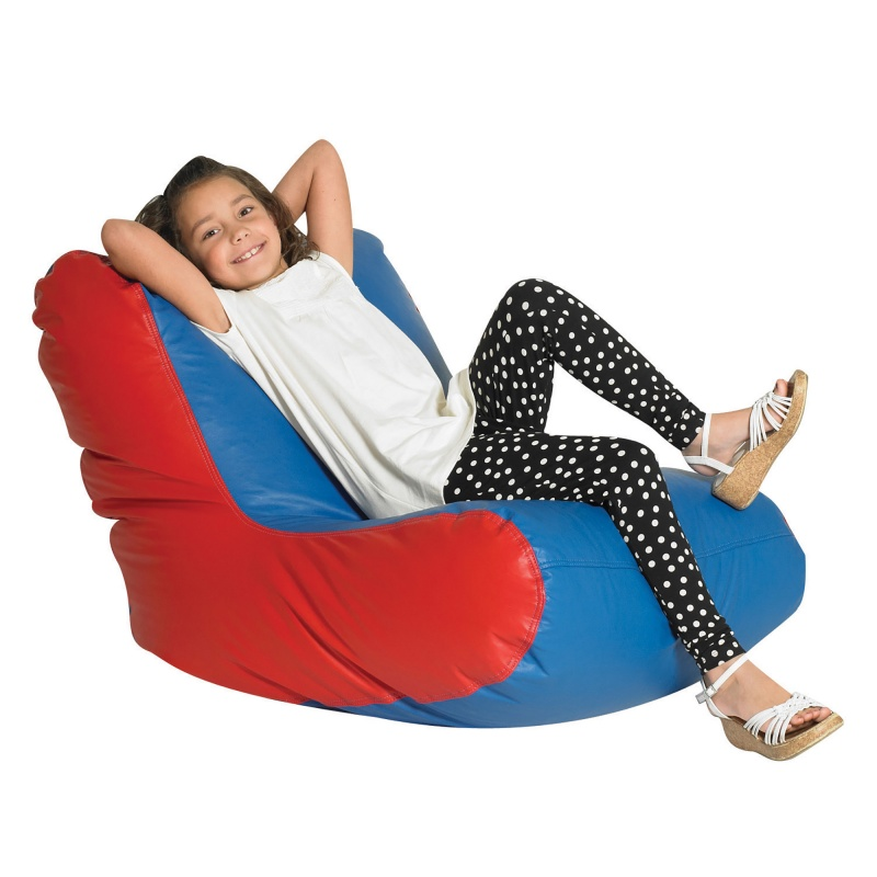 School Age High Back Lounger – Blue & Red