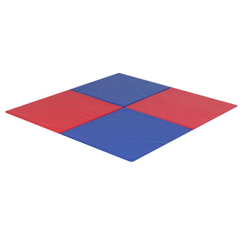 Modular Mats – 6'x6′ Blue & Red