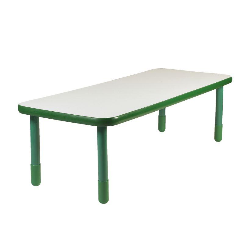 Baseline® 72″ X 30″ Rectangular Table – Shamrock Green With 22″ Legs