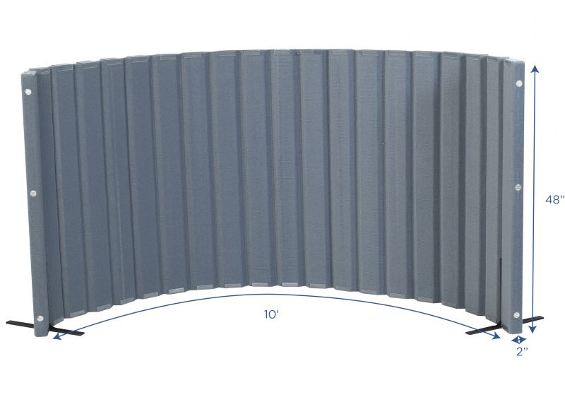 Quiet Divider® With Sound Sponge® 48″ X 10′ Wall – Slate Blue