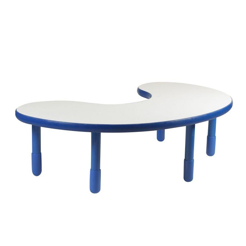 Baseline® Teacher/Kidney Table – Royal Blue With 18″ Legs